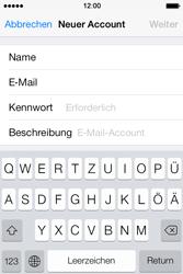 Apple iPhone 4 S mit iOS 7 - E-Mail - Konto einrichten - Schritt 8