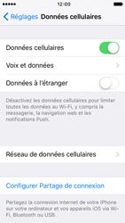 Apple iPhone 5 iOS 9 - Internet et roaming de données - Comment vérifier que la connexion des données est activée - Étape 5