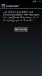 Alcatel One Touch Idol - Gerät - Zurücksetzen auf die Werkseinstellungen - Schritt 8