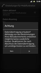 Sony Xperia S - Internet und Datenroaming - Manuelle Konfiguration - Schritt 7