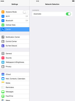 Apple iPad mini iOS 7 - Network - Manual network selection - Step 4