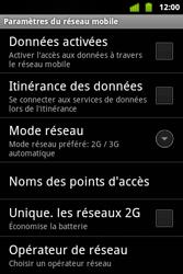 Alcatel OT-983 - Internet et roaming de données - configuration manuelle - Étape 7