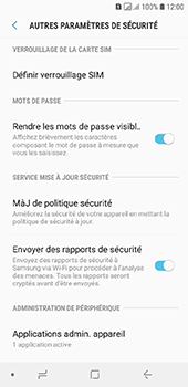 Samsung Galaxy A6 - Sécuriser votre mobile - Personnaliser le code PIN de votre carte SIM - Étape 6
