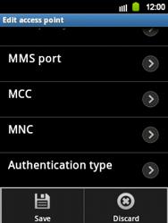 Samsung S5360 Galaxy Y - MMS - Manual configuration - Step 11