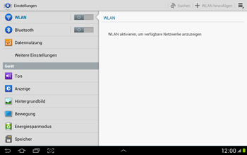 Samsung Galaxy Note 10-1 - Netzwerk - Netzwerkeinstellungen ändern - 4 / 9
