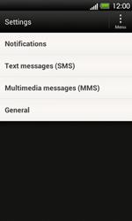 HTC T320e One V - SMS - Manual configuration - Step 4
