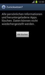 Samsung Galaxy S II - Gerät - Zurücksetzen auf die Werkseinstellungen - Schritt 8