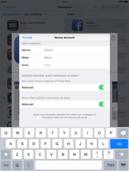 Apple iPad Air - iOS 8 - Applicazioni - Configurazione del negozio applicazioni - Fase 15