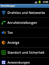 Samsung Galaxy Y - WiFi - WiFi-Konfiguration - Schritt 4