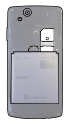 Sony Ericsson Xperia Arc S - SIM-Karte - Einlegen - Schritt 5