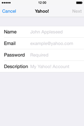 Apple iPhone 4S iOS 7 - E-mail - 032b. Email wizard - Yahoo - Step 7