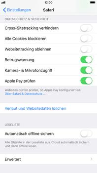 Apple iPhone 8 Plus - iOS 11 - Neue Datenschutz- und Sicherheitsfunktionen für Safari aktivieren - 1 / 1