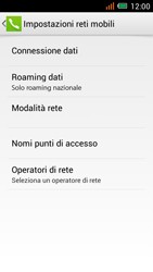 Alcatel One Touch Idol Mini - Internet e roaming dati - disattivazione del roaming dati - Fase 8