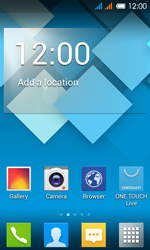 Alcatel One Touch Pop C3 - Network - Manual network selection - Step 1