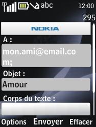 Nokia 6700 classic - E-mail - envoyer un e-mail - Étape 8