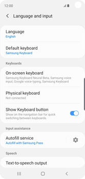 Samsung Galaxy S10e - Getting started - How to add a keyboard language - Step 6