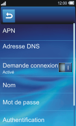 Sony TXT Pro - MMS - Configuration manuelle - Étape 15