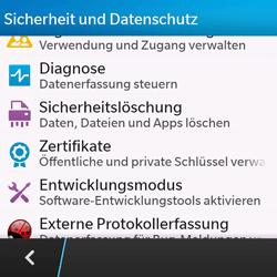 BlackBerry Q10 - Fehlerbehebung - Handy zurücksetzen - 7 / 11