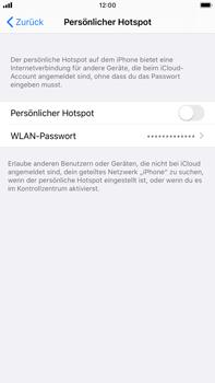 Apple iPhone 6s Plus - iOS 13 - WiFi - So aktivieren Sie einen WLAN-Hotspot - Schritt 5