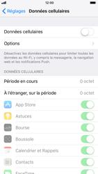 Apple iPhone 8 - Internet et roaming de données - Comment vérifier que la connexion des données est activée - Étape 4