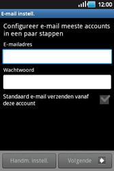 Samsung S5660 Galaxy Gio - e-mail - handmatig instellen - stap 5