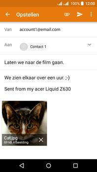 Acer Liquid Z630 - E-mail - hoe te versturen - Stap 15