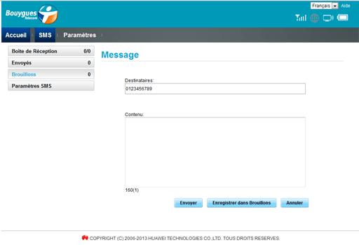 Huawei E5577 - Contact, Appels, SMS/MMS - Envoyer un SMS - Étape 5