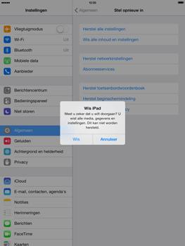 Apple iPad 4th generation (Retina) met iOS 7 - Instellingen aanpassen - Fabrieksinstellingen terugzetten - Stap 7
