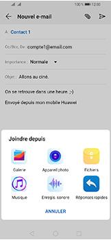 Huawei Y6 (2019) - E-mails - Envoyer un e-mail - Étape 10