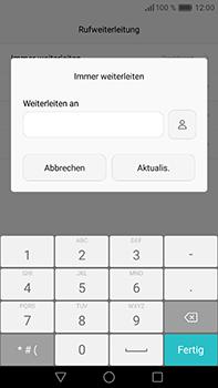 Huawei P9 Plus - Anrufe - Rufumleitungen setzen und löschen - Schritt 8
