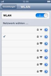 Apple iPhone 3GS - WiFi - WiFi-Konfiguration - Schritt 7