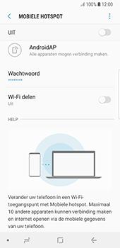 Samsung Galaxy S8 - Android Oreo (SM-G950F) - WiFi - Mobiele hotspot instellen - Stap 11