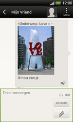 HTC T320e One V - MMS - Afbeeldingen verzenden - Stap 14