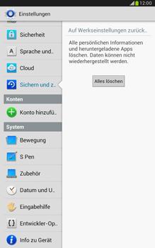 Samsung Galaxy Note 8-0 - Fehlerbehebung - Handy zurücksetzen - 9 / 11