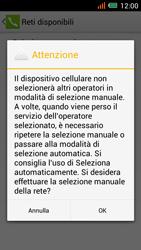 Alcatel One Touch Idol Mini - Rete - Selezione manuale della rete - Fase 8