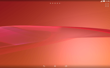 Sony Xperia Tablet Z2 LTE - Getting started - Installing widgets and applications on your start screen - Step 11