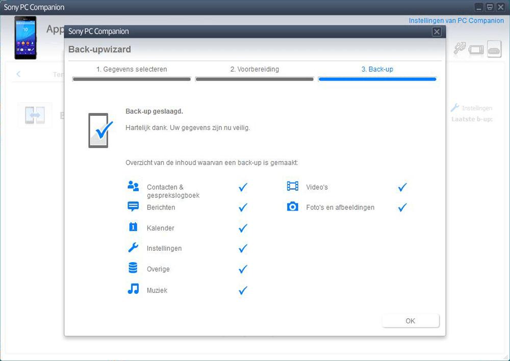 Sony E2303 Xperia M4 Aqua - Software - Backup maken van je toestel - Stap 8