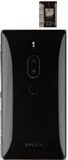 Sony Xperia XZ2 Premium - SIM-Karte - Einlegen - Schritt 4