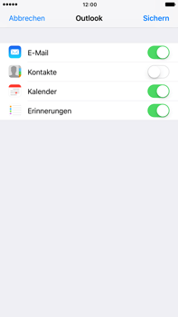 Apple iPhone 6s Plus - iOS 10 - E-Mail - Konto einrichten (outlook) - Schritt 9