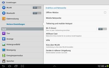 Samsung N8000 Galaxy Note 10-1 - Ausland - Im Ausland surfen – Datenroaming - Schritt 7