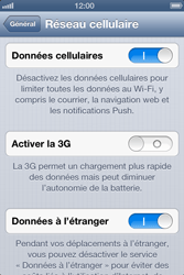 Apple iPhone 4S - Internet et roaming de données - Désactivation du roaming de données - Étape 5