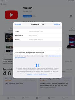 Apple ipad-air-10-5-inch-2019-model-a2123 - Applicaties - Account aanmaken - Stap 8