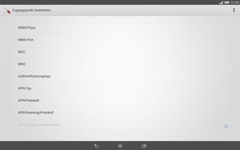 Sony Xperia Tablet Z2 LTE - Internet - Manuelle Konfiguration - Schritt 14
