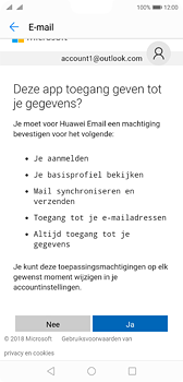 Huawei P20 - e-mail - handmatig instellen - stap 9