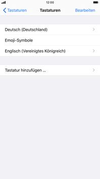 Apple iPhone 8 Plus - iOS 13 - Startanleitung - So fügen Sie eine Tastatursprache hinzu - Schritt 8