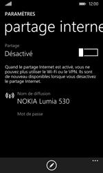 Nokia Lumia 530 - Internet et connexion - Partager votre connexion en Wi-Fi - Étape 5