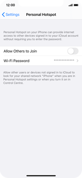Apple iPhone XS - iOS 14 - WiFi - How to enable WiFi hotspot - Step 6