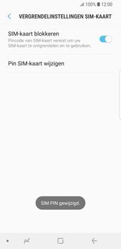 Samsung Galaxy S9 (SM-G960F) - Beveiliging en ouderlijk toezicht - Hoe wijzig ik mijn SIM PIN-code - Stap 11