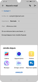 Huawei P Smart (2019) - E-mail - envoyer un e-mail - Étape 9