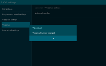 Samsung T805 Galaxy Tab S - Voicemail - Manual configuration - Step 10